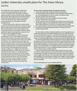 Foto bij artikel IIAS Newsletter